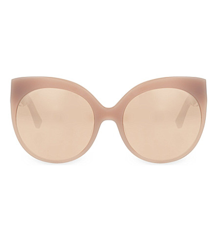 LINDA FARROW LFL388 cage detail cat eye sunglasses (Rose & rose gold