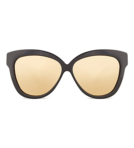 LINDA FARROW LFL3854 chunky cat-eye sunglasses (Black+gold+lens