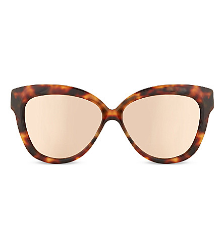 LINDA FARROW Lfl3856 chunky cat-eye sunglasses (Tortoise+rose+gold