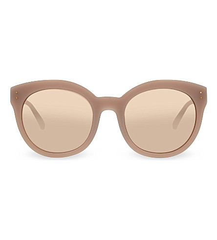 LINDA FARROW LFL391 rounded cat eye sunglasses (Rose+&+rose+gold