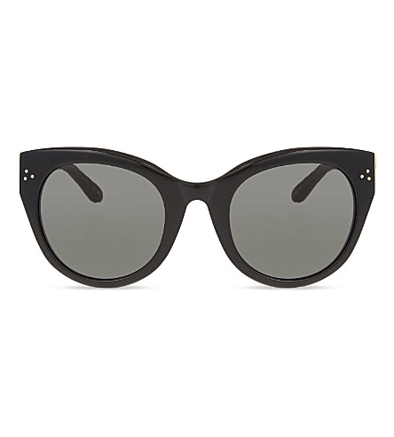 LINDA FARROW LFL393 thick rimmed cat-eye sunglasses (Black