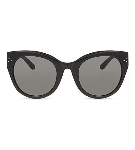 LINDA FARROW LFL393 thick rimmed cat-eye sunglasses (Black