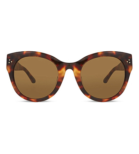 LINDA FARROW LFL393 tortoiseshell cat-eye sunglasses (Tortoise&yellowgold