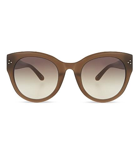 LINDA FARROW LFL3937 cat eye sunglasses (Mocha & light gold