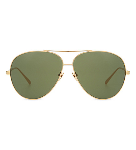 LINDA FARROW LFL3981 aviator sunglasses (Yellow+gold
