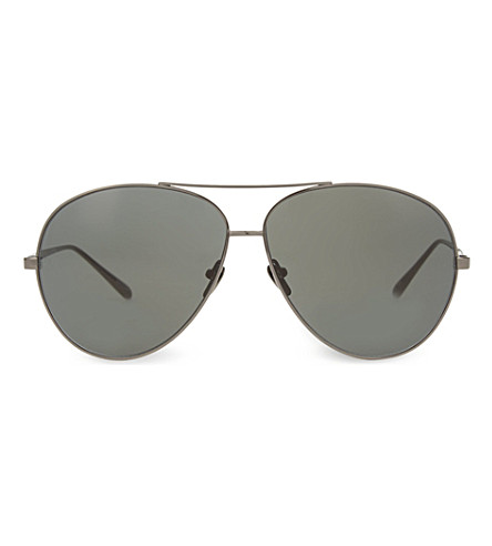 LINDA FARROW LFL3984 classic aviator sunglasses (Nickel