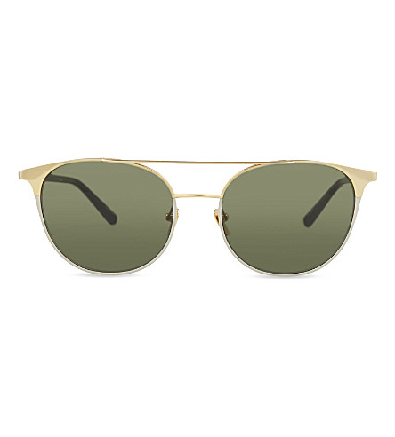 LINDA FARROW LFL421 browline sunglasses (Yellow+gold