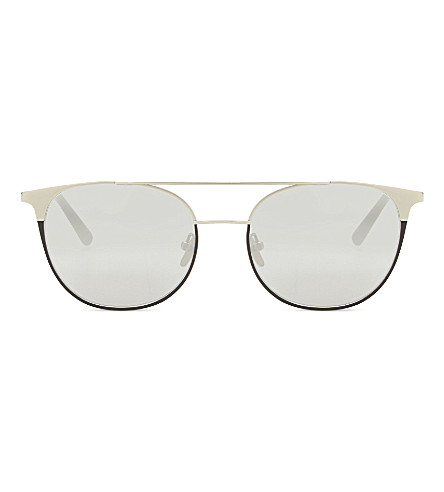 LINDA FARROW LFL421 browline sunglasses (White+gold+&+black