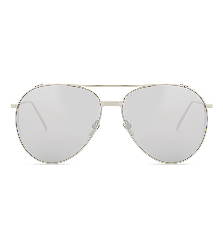 LINDA FARROW Lfl425 aviator sunglasses (White+gold