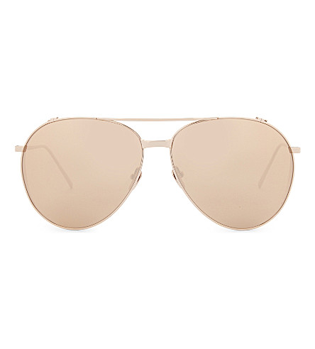 LINDA FARROW Lfl425 aviator sunglasses (Rose+gold