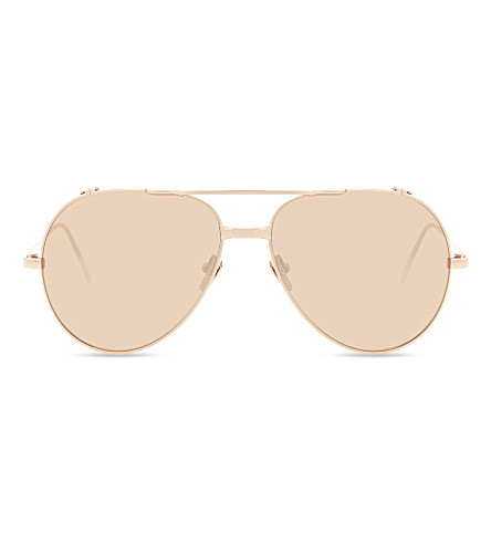LINDA FARROW LFL426 Aviator sunglasses (Rose+gold