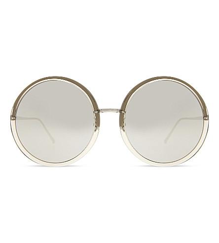 LINDA FARROW Lf457 round-frame sunglasses (Truffle