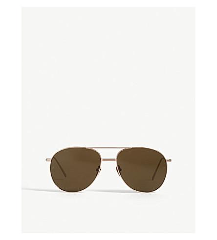 LINDA FARROW LFL482 aviator sunglasses (Rose+gold