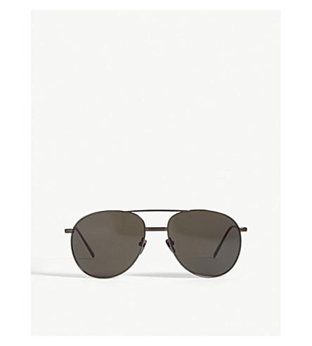 LINDA FARROW LFL482 aviator sunglasses (Nickel