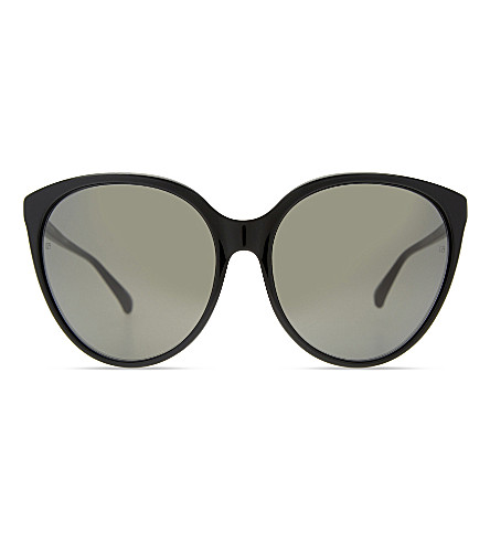 LINDA FARROW Lf496 cat-eye sunglasses (Black