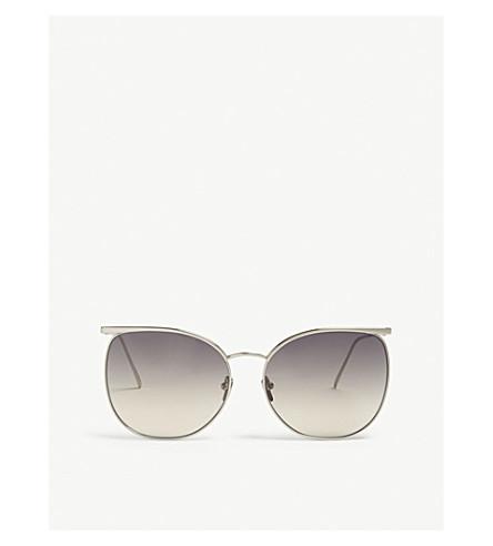 LINDA FARROW Lfl509 square-frame sunglasses (White+gold