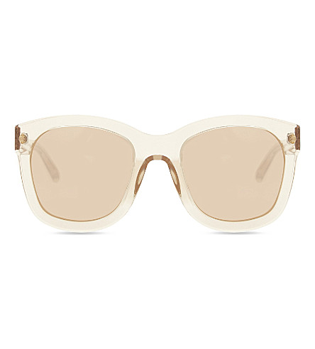 LINDA FARROW LFL513 oversized D-frame sunglasses (Ash