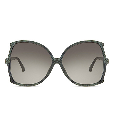 LINDA FARROW Lfl 514 oversized butterfly sunglasses (Jade