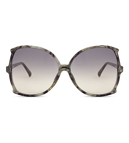 LINDA FARROW Lfl514 oversized sunglasses (Grey+marble