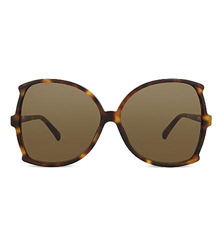 LINDA FARROW Lfl514 butterfly-frame sunglasses (Tortoiseshell