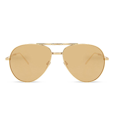 LINDA FARROW Lfl518 C1 Aviator sunglasses (Gold