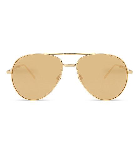 LINDA FARROW Lfl518 C1 Aviator sunglasses (Gold