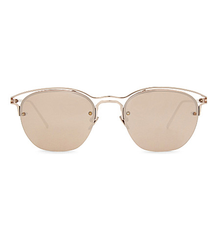 LINDA FARROW Lfl538 square-frame sunglasses (Rose+gold