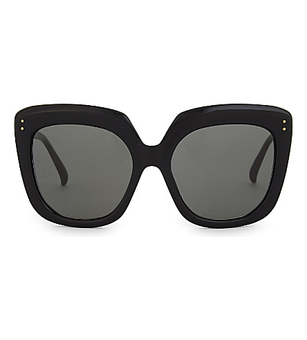 LINDA FARROW Lfl556 oversized sunglasses (Black