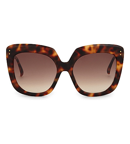 LINDA FARROW Lfl556 tortoiseshell oversized sunglasses (Brown