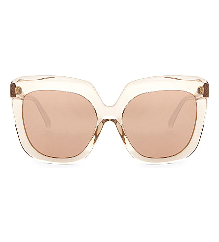 LINDA FARROW Lfl556 oversized sunglasses (Clear
