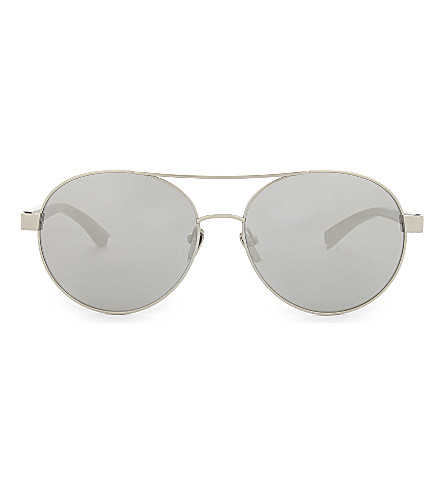 LINDA FARROW Lfl559 aviator sunglasses (White+gold