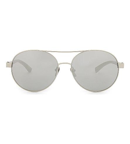 LINDA FARROW Lfl559 aviator sunglasses (White+gold