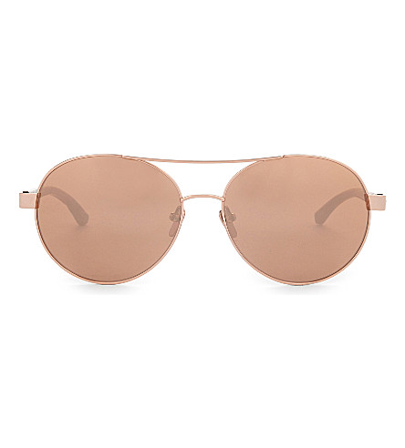LINDA FARROW Lfl559 aviator sunglasses (Rose+gold