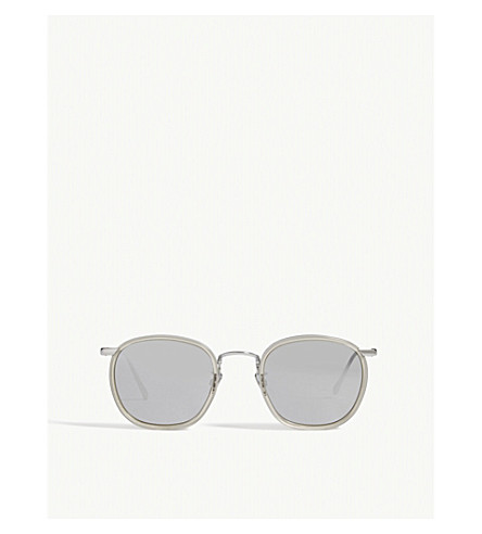 LINDA FARROW LFL562 oval sunglasses (Black+gold