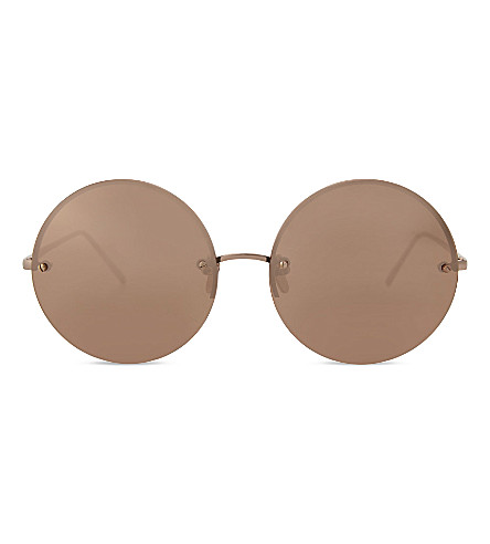 LINDA FARROW Lfl565 round-frame sunglasses (Rose+gold