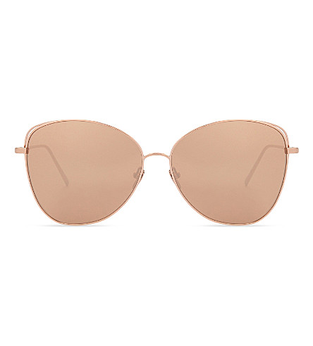 LINDA FARROW Lfl566 cat-eye sunglasses (Rose+gold
