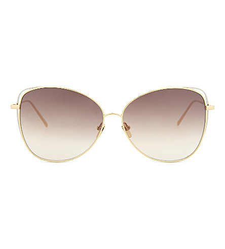 LINDA FARROW Lfl566 cat-eye sunglasses (Gold