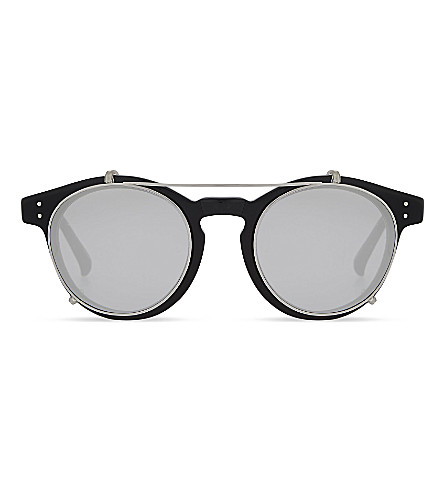 LINDA FARROW Lfl569oval-frame sunglasses (Black