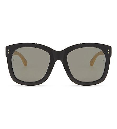 LINDA FARROW Lfl513 oversized sunglasses (Gold