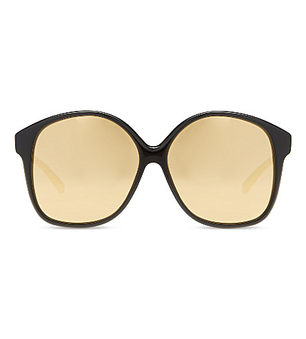 LINDA FARROW LFL520 oversized sunglasses (Black