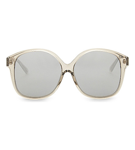 LINDA FARROW Oversized sunglasses (Truffle