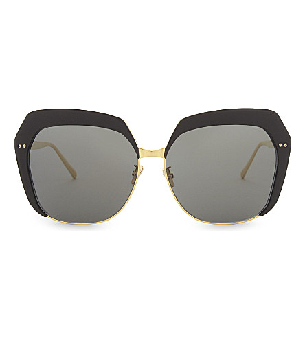 LINDA FARROW Lfl578 oversized-frame sunglasses (Black