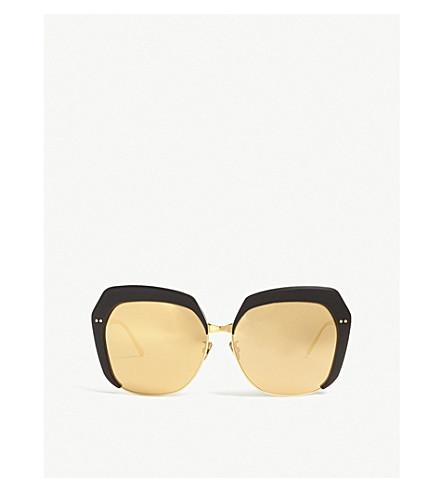 LINDA FARROW Lfl587 oversized-frame sunglasses (Black