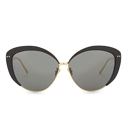 LINDA FARROW Lfl579 cat-eye sunglasses (Black
