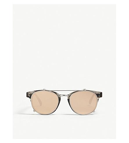 LINDA FARROW LFL581 D-frame sunglasses (Grey+horn