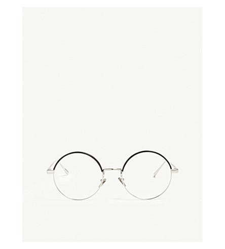 LINDA FARROW Lfl583 round-frame glasses (White+gold