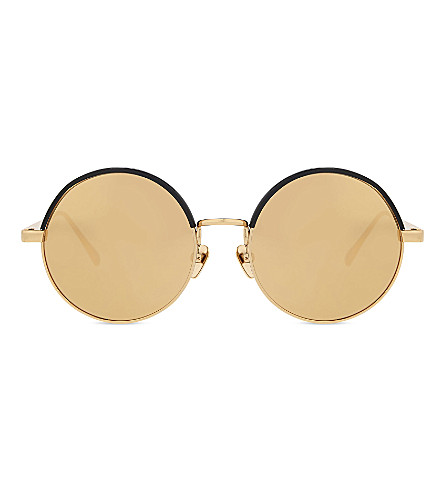 LINDA FARROW LFL583 round sunglasses (Gold