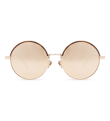 LINDA FARROW Lfl583 round-frame sunglasses (Rose+gold