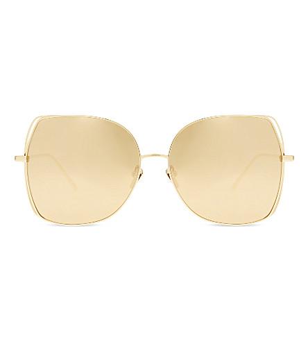LINDA FARROW Lfl590 oversized sunglasses (Gold