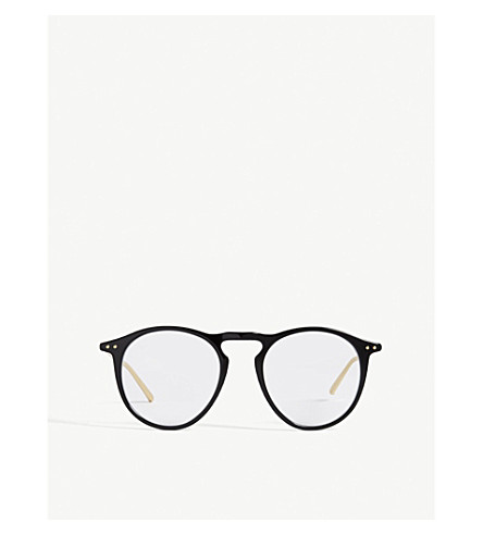 LINDA FARROW LFL608 oval-frame glasses (Black